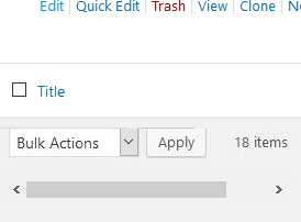 Horizontal scroll for WordPress Admin Post & Pages